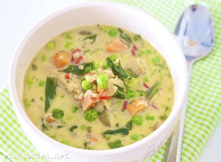 Thailandsk grønnsakssuppe