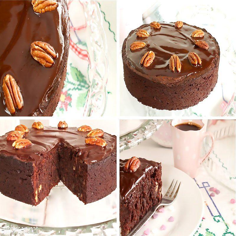Sjokoladekake med pekannøtter