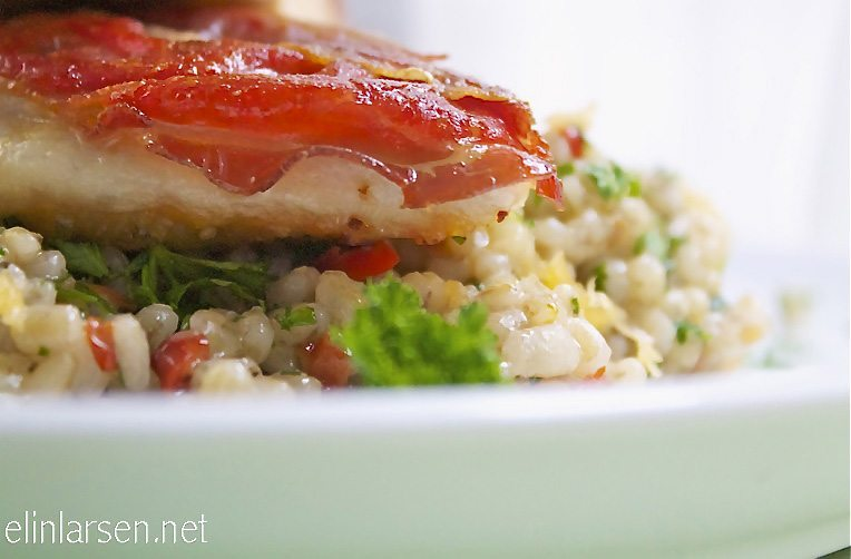 Parmakylling med byggrisotto