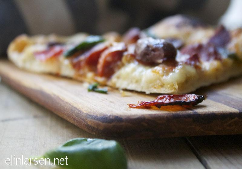 løvtynn eltefri pizza