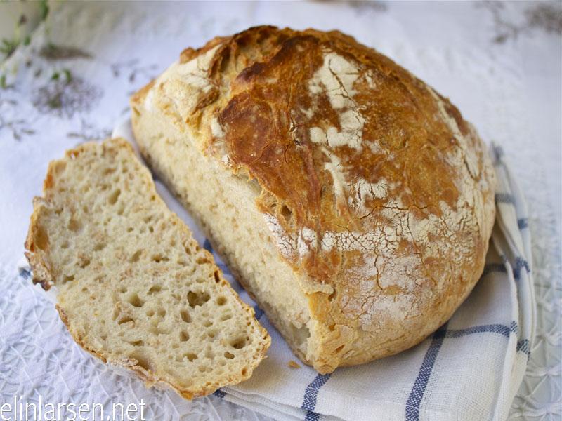 no knead speltbrød