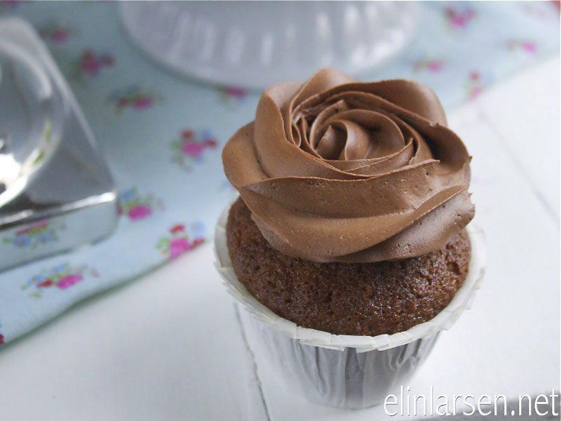 Appelsincupcakes sjokoladefrosting