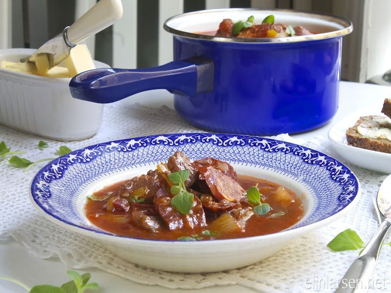 Chipotlesuppe med svin og chorizo