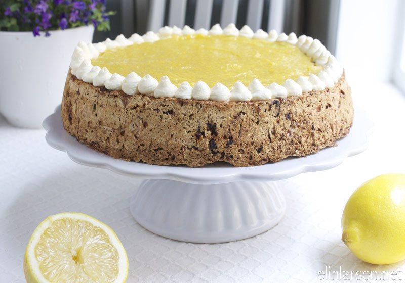 Notte og sjokoladekake med sitronkrem