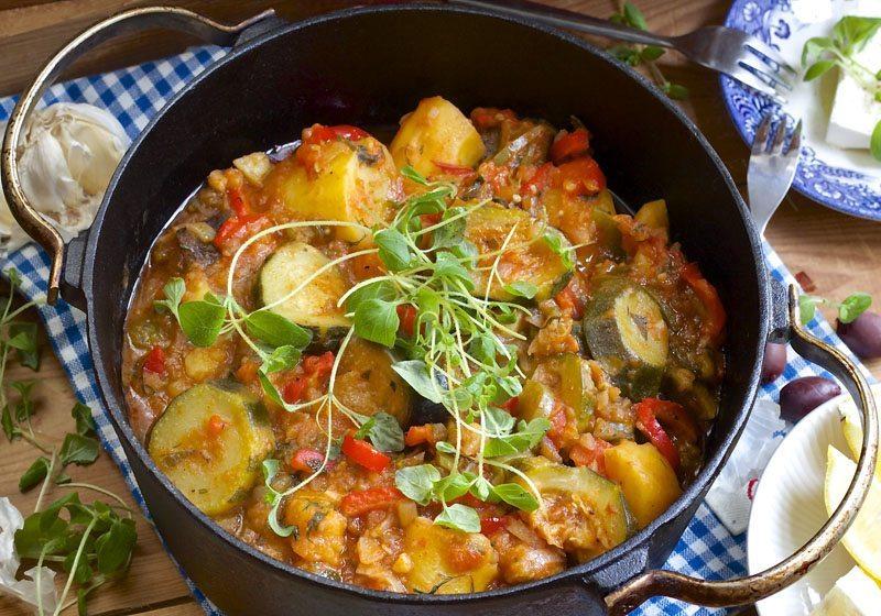 Tourlou- gresk vegetarmiddag