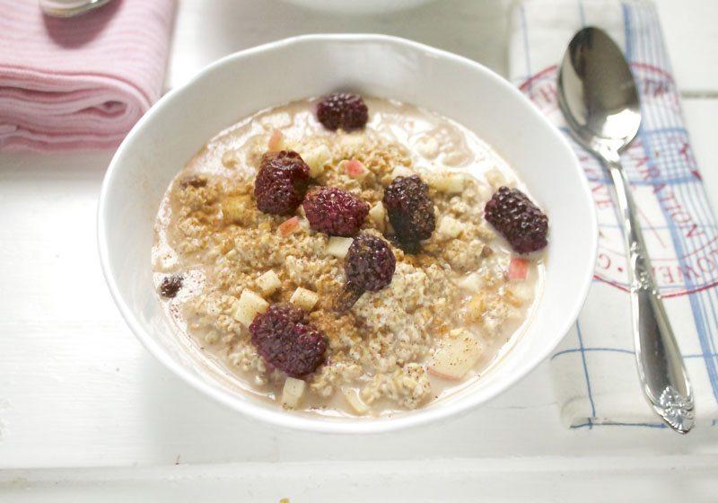 overnight oats som smaker eplekake