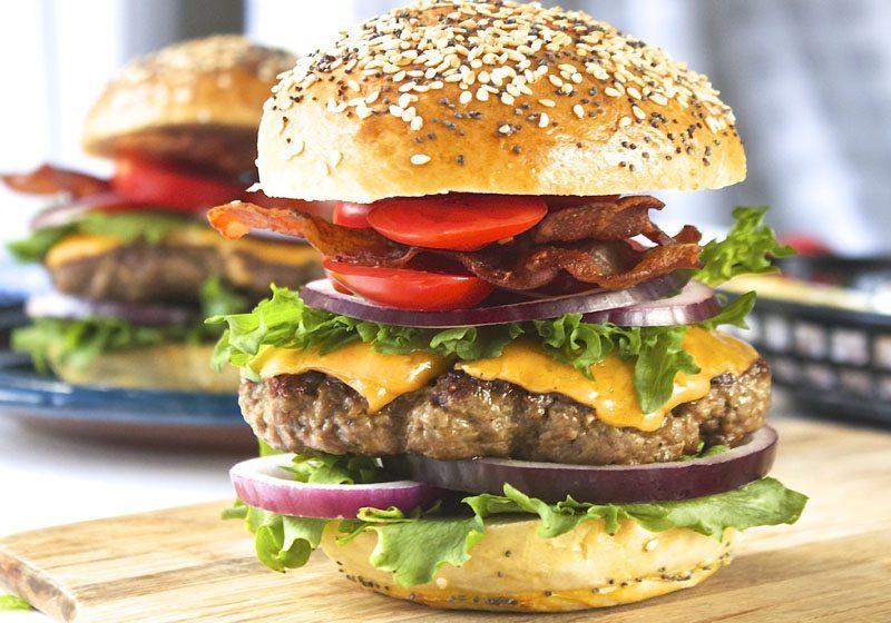 Burger fra Prima jaeren angus kjøttfe
