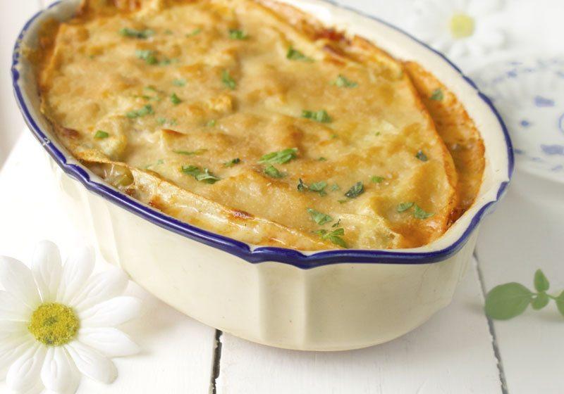 Lasagne gresk salat