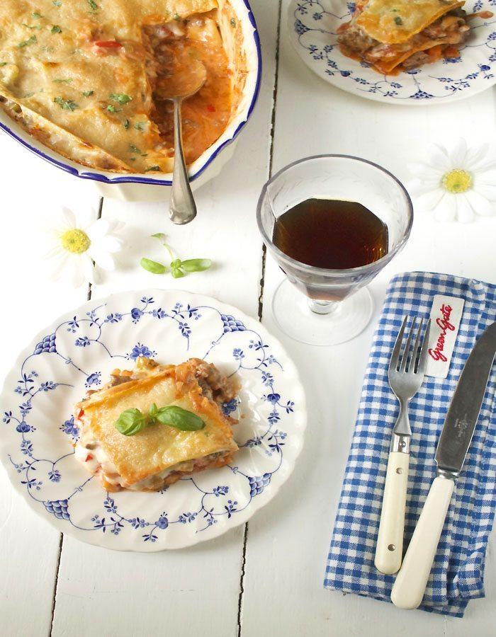 Lasagne med angnus kjottdeig