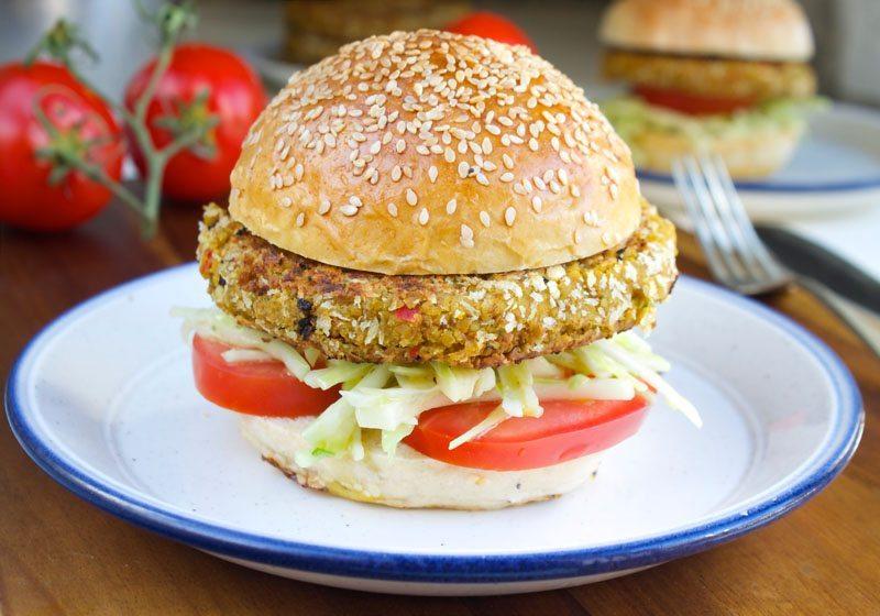 vegetarburger med linser