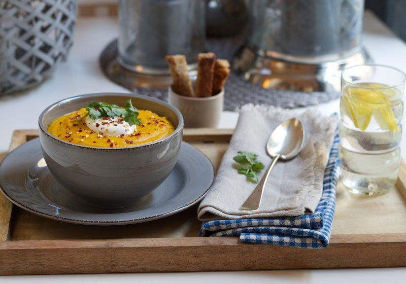 Gulrot- og linsesuppe