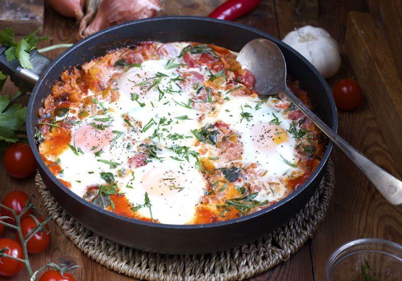 Huevos Rancheros mexikansk frokost