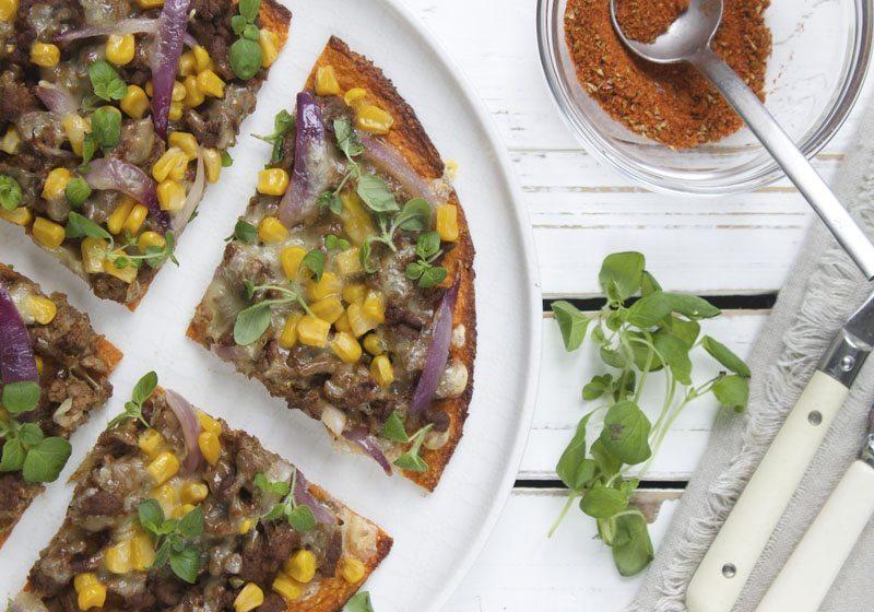 sotpotetpizza med tacotopping