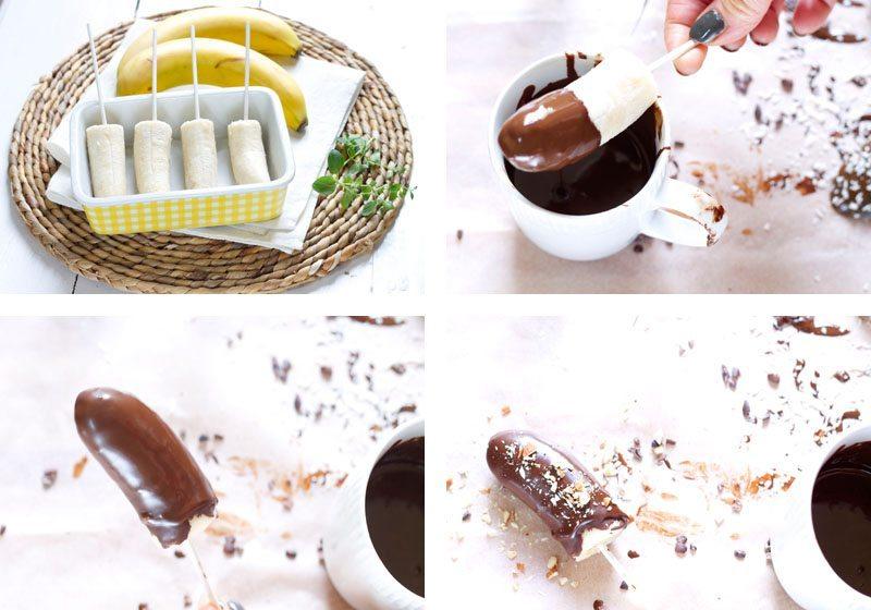 bananis med sjokoladetrekk